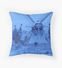 natural blue Throw Pillow