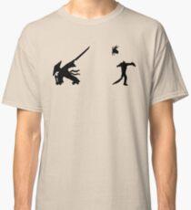 Samurai Versus Zombie - Silhouette Classic T-Shirt