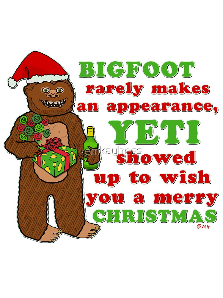 Funny Christmas Picture.Funny Christmas Bigfoot Yeti Pun Cartoon Baby One Piece