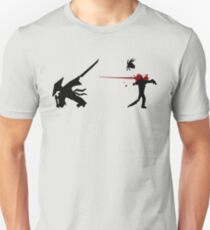 Samurai Versus Zombie - Splatter Unisex T-Shirt
