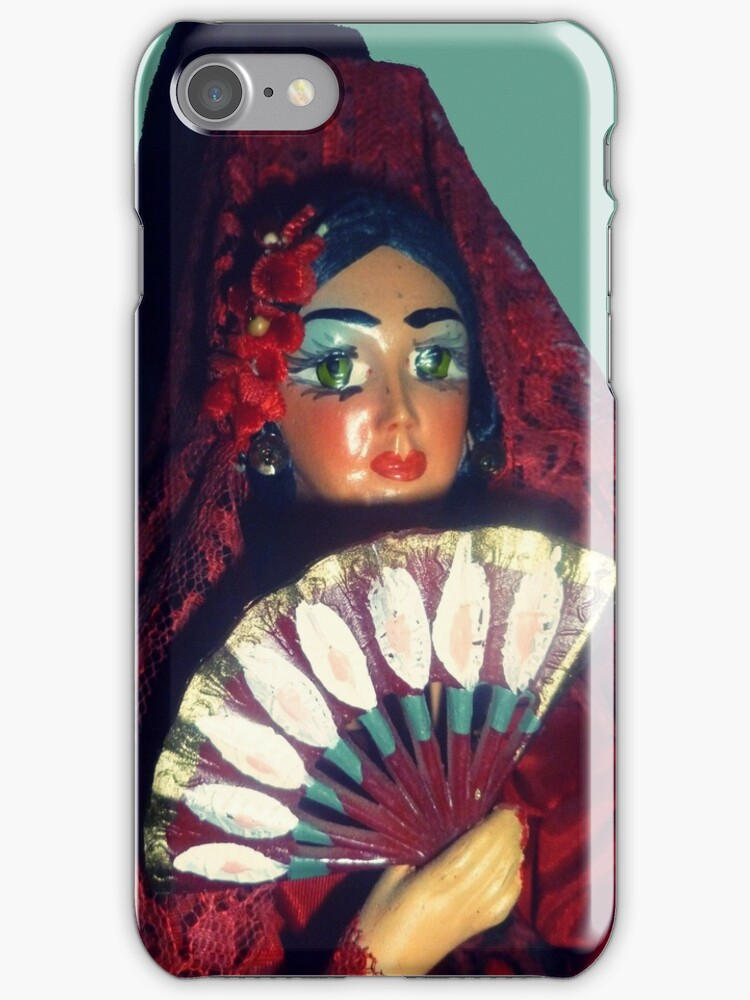 Sally iphone case by Margaret Bryant