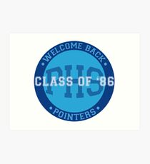 Welcome Back Pointers: Class of '86 - Grosse Pointe Blank Art Print