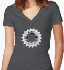One speed Women's Fitted V-Neck T-Shirt
