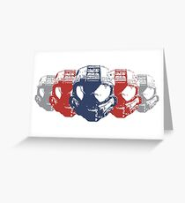 Video Game Helmets Greeting Card