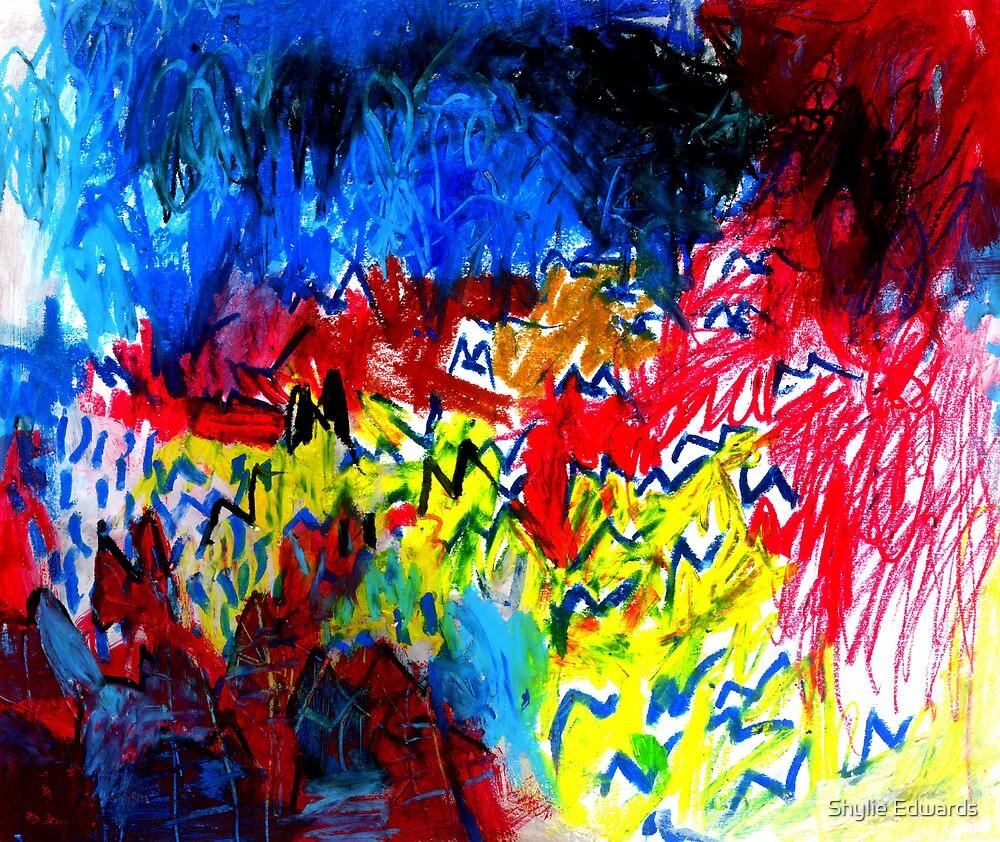 birds in flight by Shylie Edwards