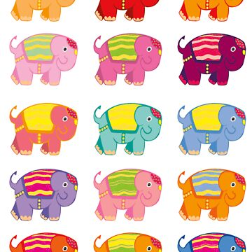 elephant stickers by sunset