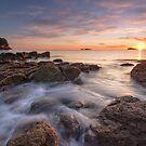 Waimama Bay Sunrise Drift by Ken Wright