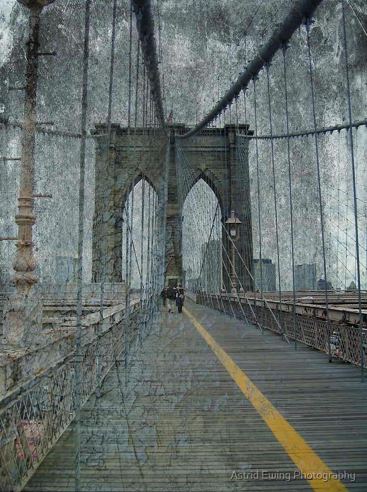 Brooklyn Bridge Grunge by Astrid Ewing Photography