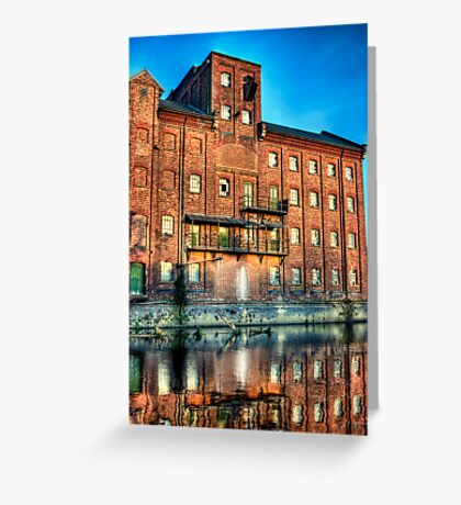 Abandoned Flour Mill HDR Greeting Card