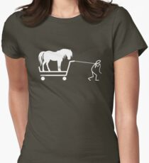 Man and Horse Women's Fitted T-Shirt