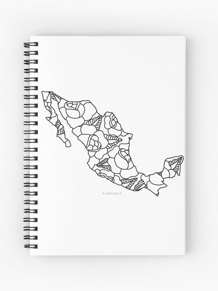 Mexiko Karte Umriss.Mexiko Karte Schwarzer Umriss Spiralblock
