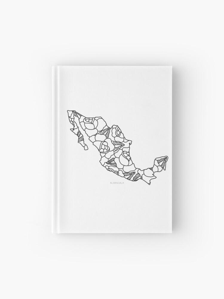 Mexiko Karte Umriss.Mexiko Karte Schwarzer Umriss Notizbuch