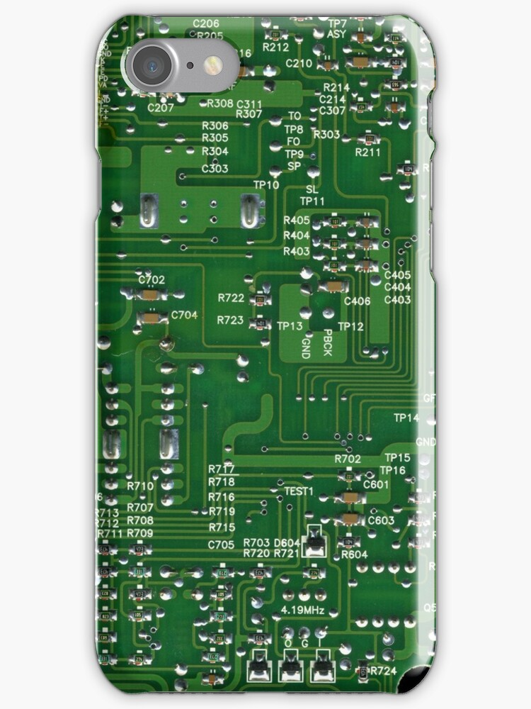 Electronic Board...iphone case by Declan Carr