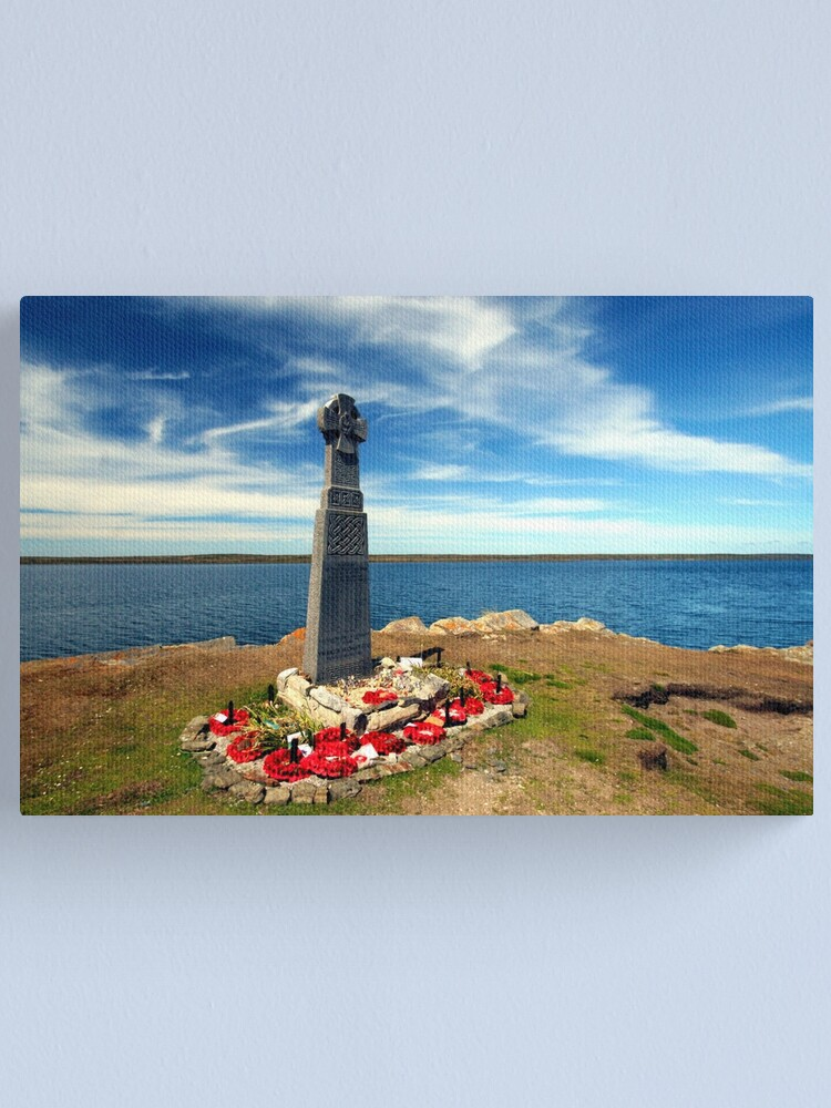 Alternate view of Falklands War - Welsh Guards Memorial Canvas Print