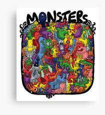 Monster Mash Up Canvas Print
