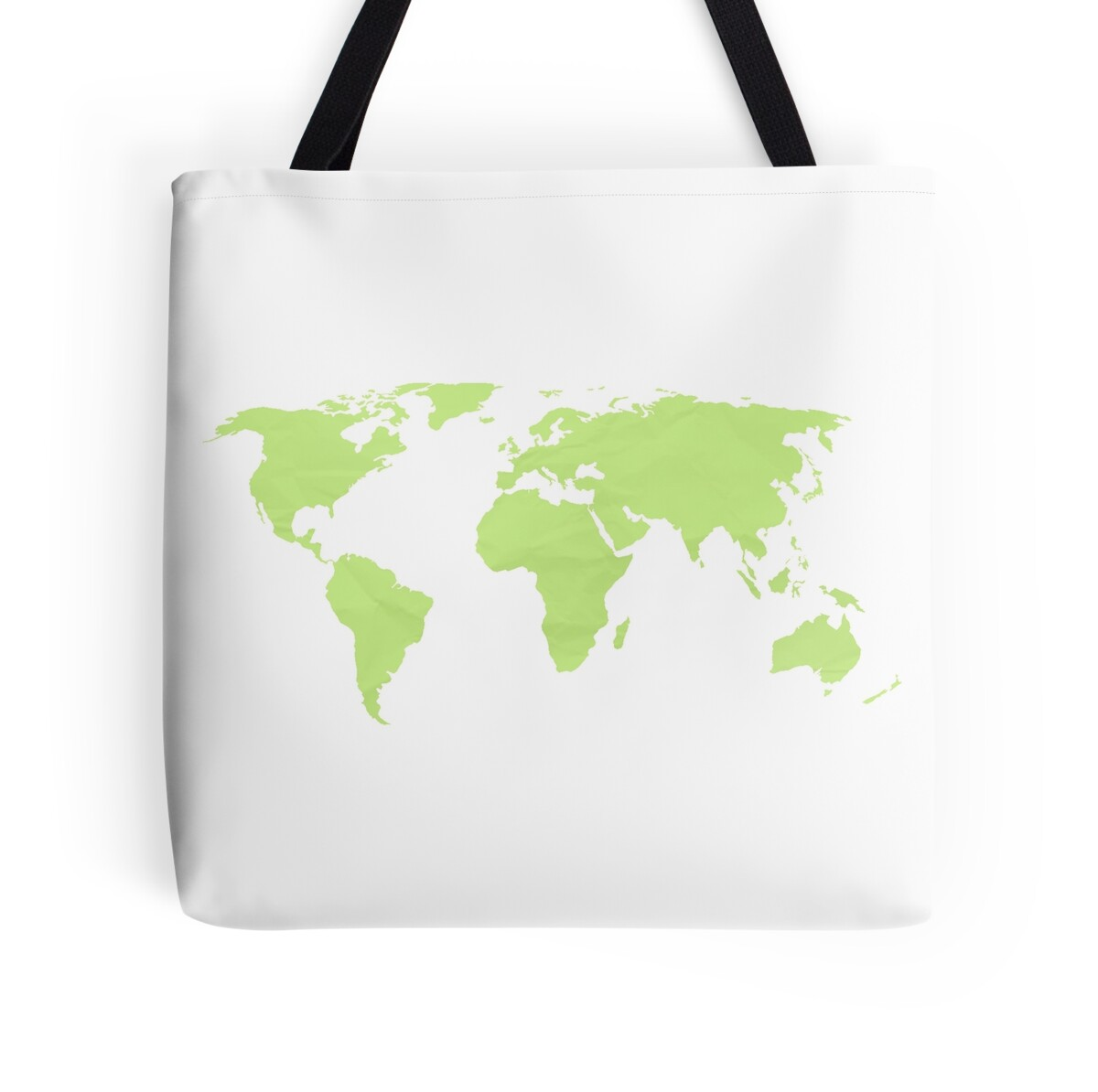 Simple World Map Flat. Simple Green World Map by Leah Biernacki  Tote Bags Redbubble