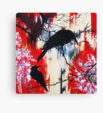 black birds 1 Canvas Print