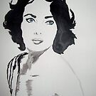 Liz Taylor Eyes by Ashley Huston