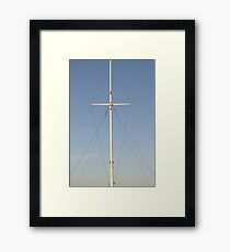 lonely mast Framed Print