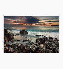 Bowentown Backlit Wave Photographic Print