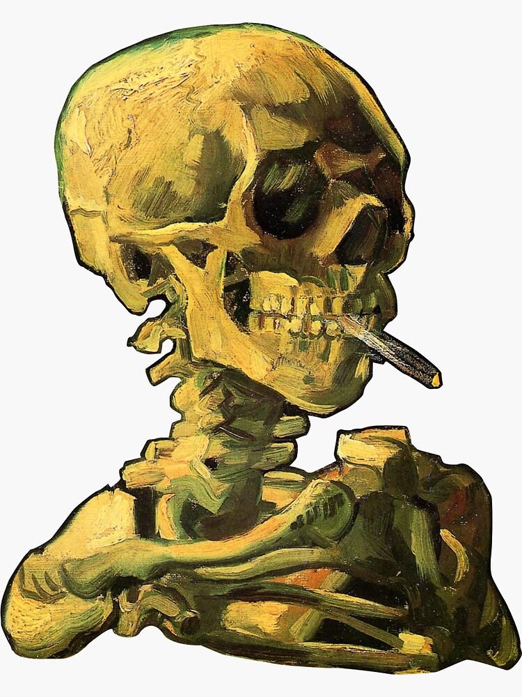 "Vincent Van Gogh - ""Cráneo de un esqueleto con cigarrillo encendido"" de ModularMork"