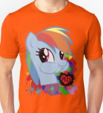 Rainbow Dash Splatter Heart Unisex T-Shirt