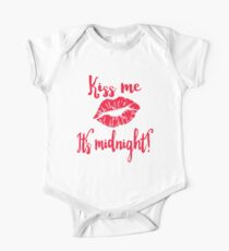 Kiss Me It's Midnight New Years Eve One Piece - Short Sleeve