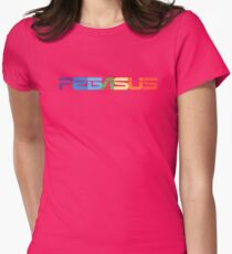 Peg-ASUS Rainbow Womens Fitted T-Shirt