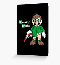 Breaking Bricks Greeting Card