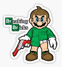 Breaking Bricks Sticker