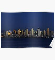 Downtown San Diego At Dusk Poster