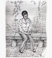 Daydream pencil sketch Poster