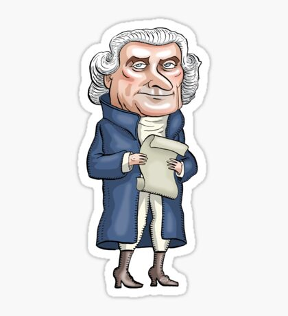 President Thomas Jefferson Sticker