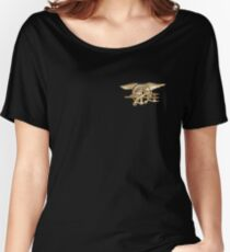 Navy SEALs trident Women's Relaxed Fit T-Shirt