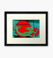 Christmas Mermaid - Thai Framed Print