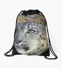 Snow Leopard. Drawstring Bag