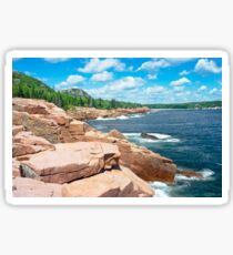 Rocky Summer Seascape Acadia National Park  Sticker