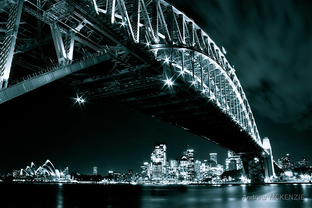 Black and White shot of Sydney's landmarks by Andrew  MCKENZIE