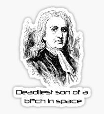 Mass Effect Isaac Newton is deadly Sticker