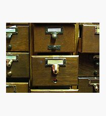Used Card Catalog (Full of Toys) Photographic Print