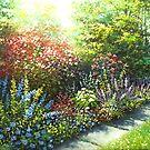 the garden in bloom by edisandu