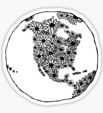 Planet of Daisies Trendy/Hipster/Tumblr Meme Sticker