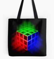 Glühender Rubix-Würfel Tote Bag