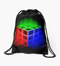 Glowing Rubix Cube Drawstring Bag