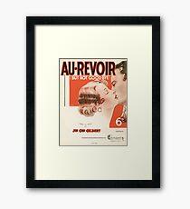 AU REVOIR BUT NOT GOODBYE (vintage illustration) Framed Print