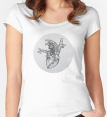 Anatomical No-Body, Heart Women's Fitted Scoop T-Shirt