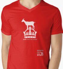 Goat Save The Queen Men's V-Neck T-Shirt