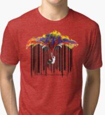 unzip the colour wave Tri-blend T-Shirt
