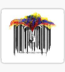 unzip the colour wave Sticker