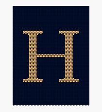 Weasley Sweater Letter H Photographic Print